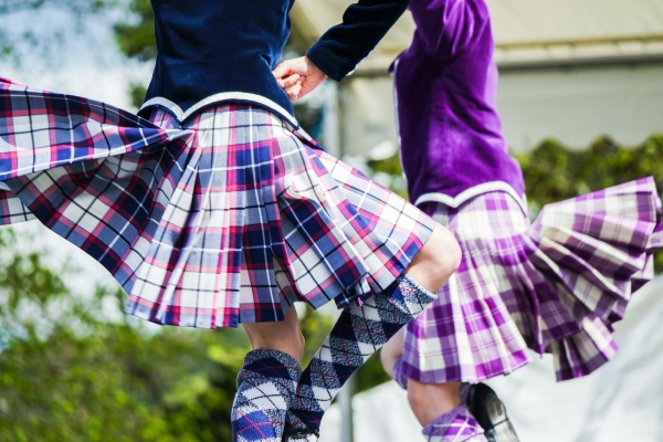 Scottish Dancers in kilts